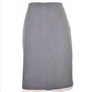 Ann Taylor Loft women's skirt 14 pencil solid gray